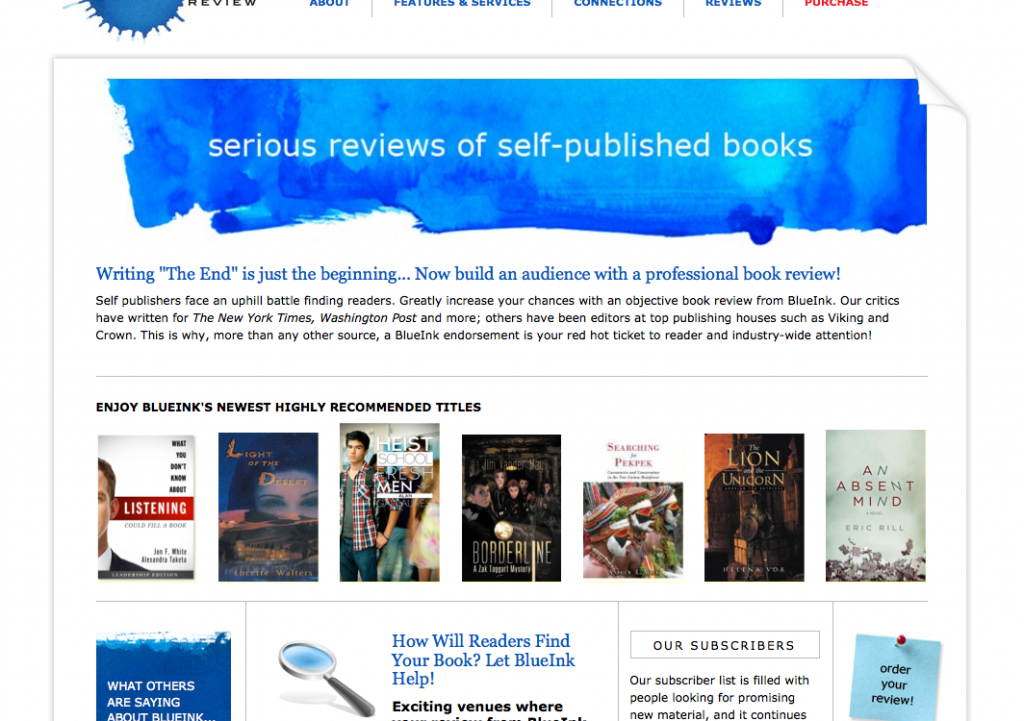 BlueInk Review Website