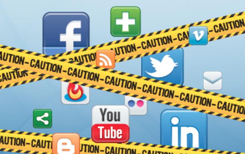social media caution