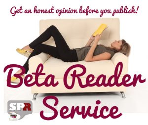 Beta reader reading a book