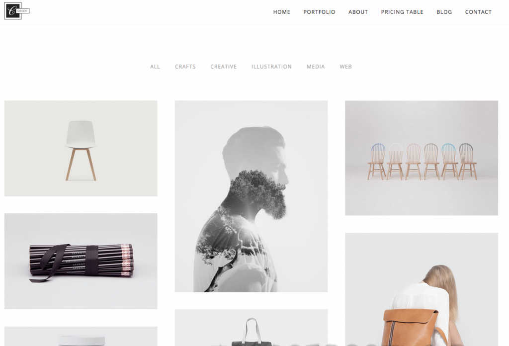 Best wordpress portfolio themes for authors creatives self creek is a hyper minimal portfolio template with modern look n feel totally fat free and built for one purpose in mind it can help you to showcase your maxwellsz