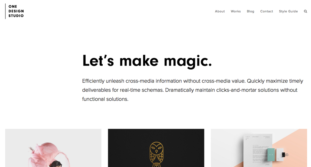 One Design Studio Theme