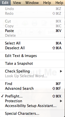 Adobe Preflight