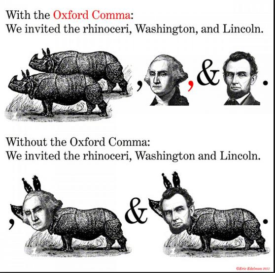 We invited the rhinoceri, Washington, and Lincoln