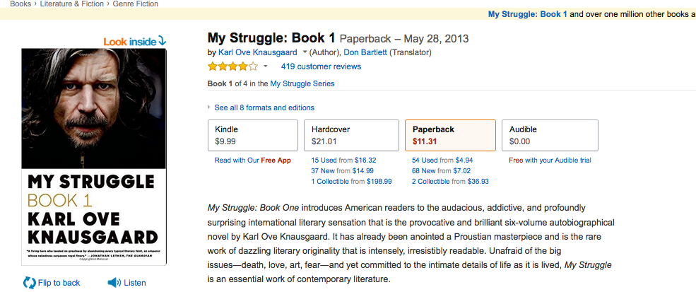 Karl Ove Knausgaard's Amazon page