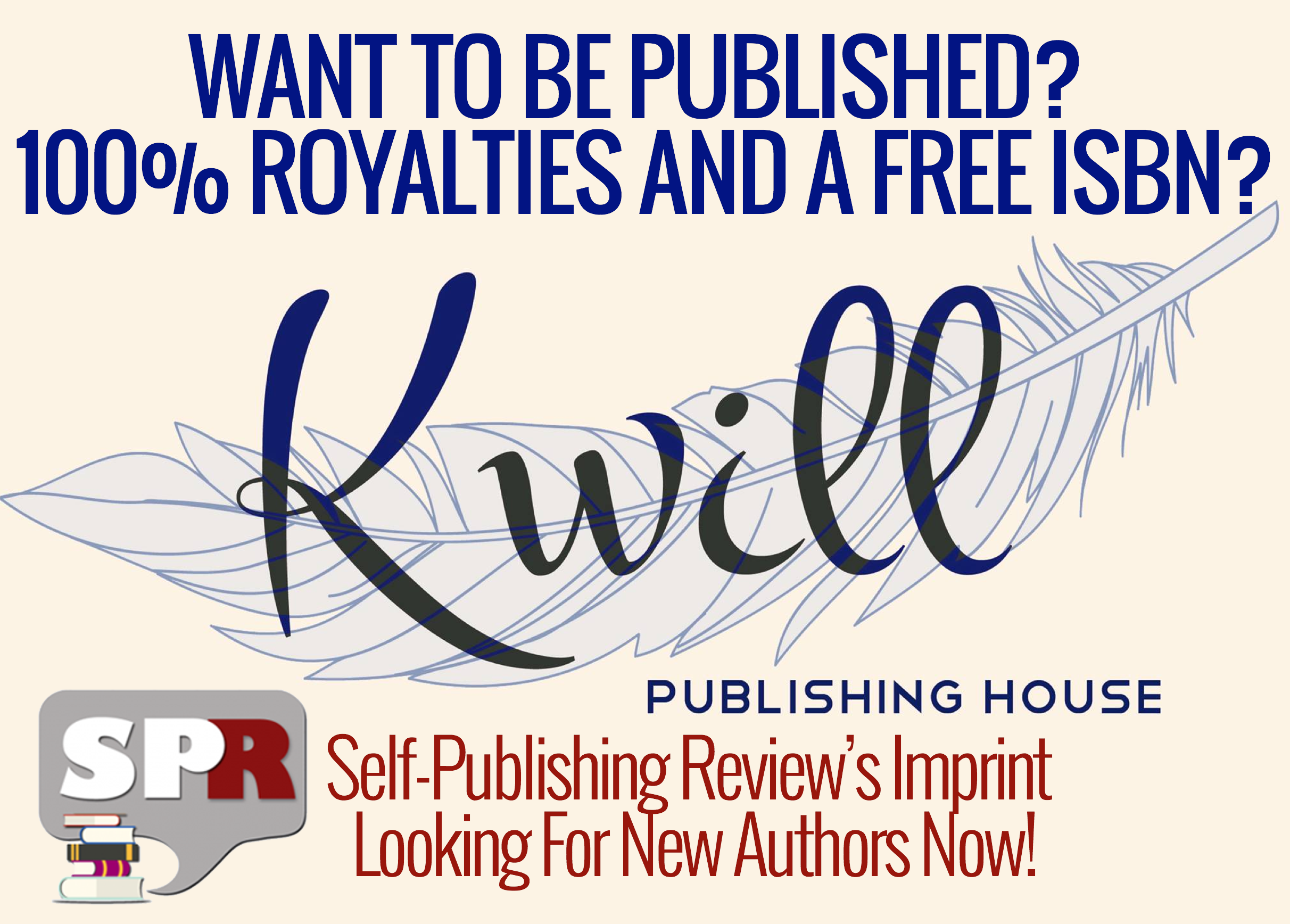 Get Published with our Imprint Kwill Books