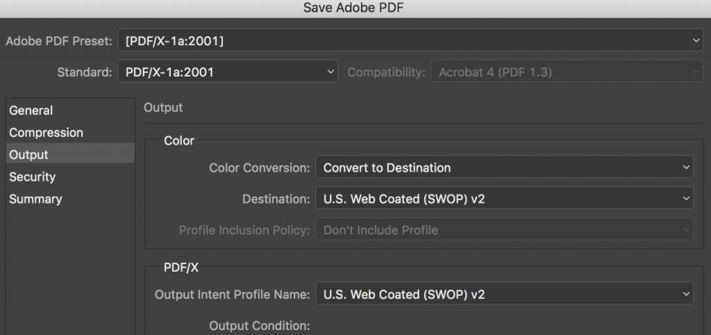 ICC color PDF for CS