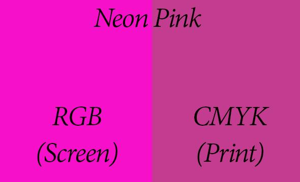 Neon pink printed