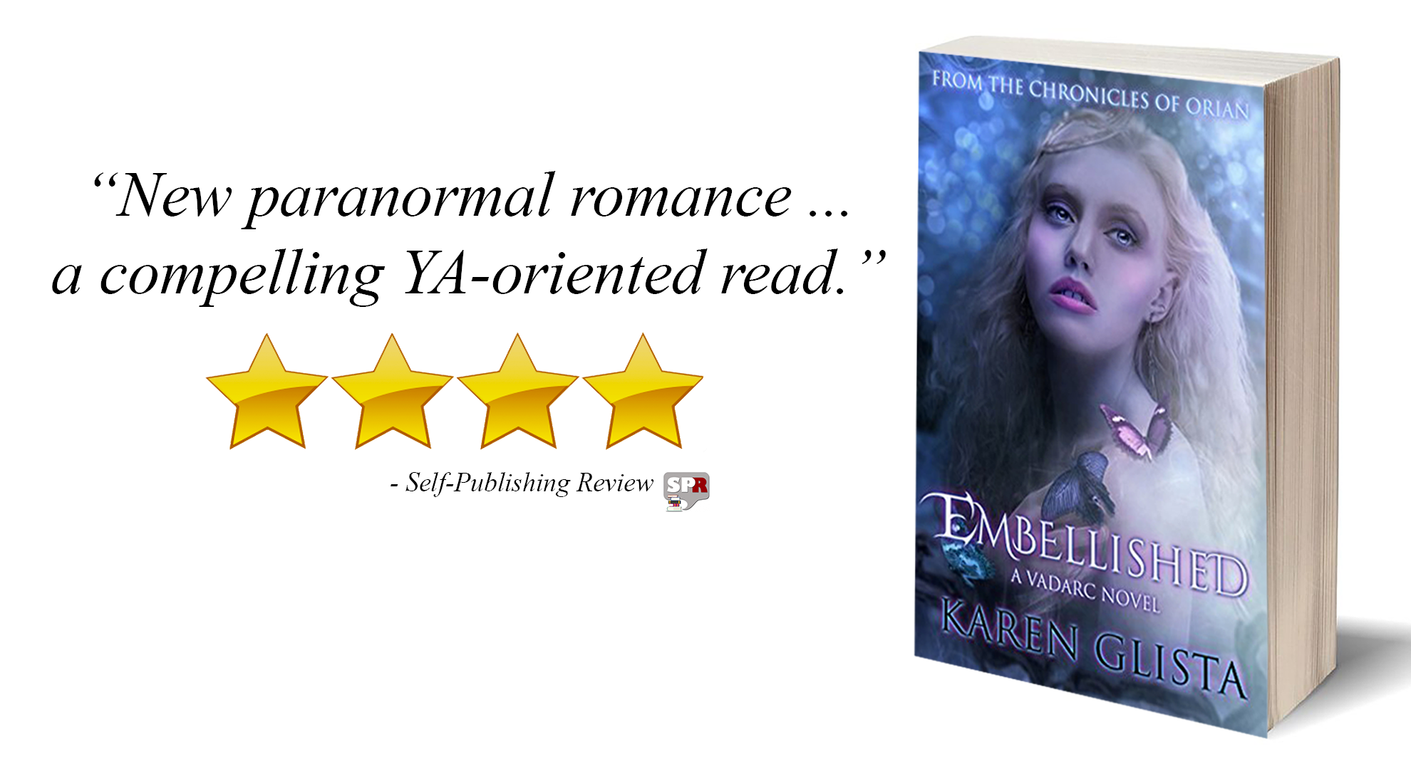 Review: Embellished: A Vadarc Novel (Chronicles of Orian Book 1) by Karen Glista