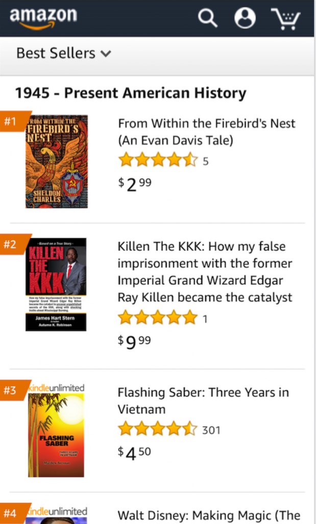 #1 in Amazon category